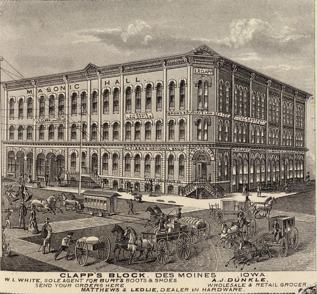 The Clapp Block in the Des Moines Daily News August 7 1901